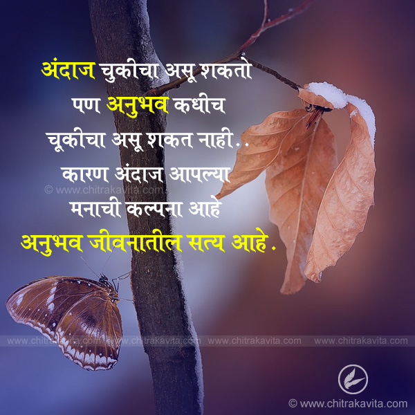 andaj-aani-anubhav  - Marathi Suvichar