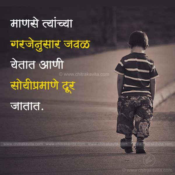 Need Marathi Relationship Quote Image