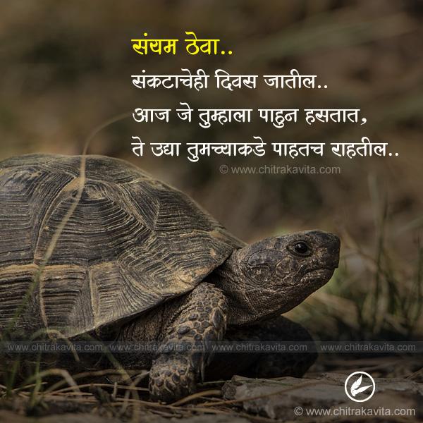 sankat Marathi Struggle Quote Image